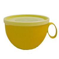 Чашка с крышкой 0,5л т.желт-прозр АЛЕАНА