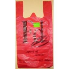 Пакет-майка ПНД 30+16*56см, 23мк, FD, красный, 100шт/уп, цена за шт, Элпак, арт.10962