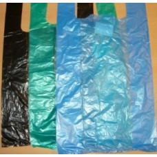 Пакет-майка ПНД 28+12*50см, 11мк, цвета в ассорт, 100шт/уп, цена за шт, Элпак, арт.10911