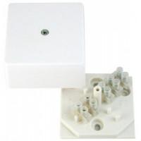 HEGEL коробка распред. 60х60х30мм ОУ с крышкой под каб/канал (с клеммн.) белая IP40 КРК2701