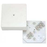 HEGEL коробка распред. 75х75х30мм ОУ с крышкой под каб/канал (с клеммн.) белая IP40 КРК2702