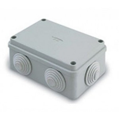 T-plast LUXEL/QUEL коробка распред.120x80x50 ОУ 6 вводов с крышкой на болтах IP55 LX35006-P