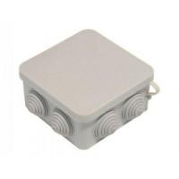 HEGEL коробка распред. 100х100х50 ОУ 7 вводов с крышкой IP55 КР2604
