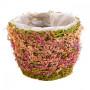 Кашпо плетеные из натурального волокна