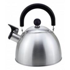 Чайник металлический со свистком (0,3мм) MAL-039-MP 2,5л (Промо)ручка бакелит,упаковка ПАКЕТ 310097 Mallony