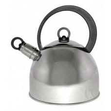 Чайник металлический со свистком (0,4мм) DJA-3026, 2,2л, ручка бакелит, капсульное дно, 900056 Mallony