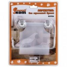 Держатель для туалетной бумаги, хром/пластик, крепление шуруп B0926, 2487 Рыжий Кот