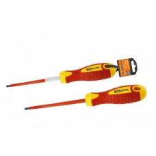 TDM Отвертка (+) диэлектрическая PH1x80, ручка диэл. пластик, магнит, до 1000В SQ1007-0202