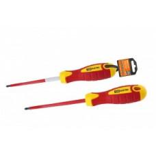 TDM Отвертка (+) диэлектрическая PH2x100, ручка диэл. пластик, магнит, до 1000В SQ1007-0203