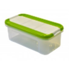 Банка для сыпучих продуктов с дозатором Krupa 0,5л оливковый GR2234ОЛ Giaretti
