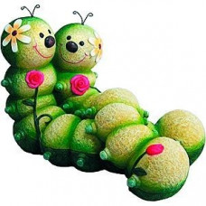 GA200-12 Green Apple Фигурка садовая Гусеницы 31*19*21см