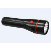 Космос фонарь ручной 8108T (2xR14) кр.лампа 2.4V (40lm), черный/пластик
