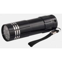 Облик фонарь ручной 1056 (3xR03) 9 светодиодный в ассорт./алюм., влагозащитный, шоу-бокс 12 шт