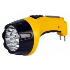 Smartbuy фонарь ручной SBF-85-Y (акк. 4V 0.8 Ah) 15св/д, желтый/пластик, вилка 220V