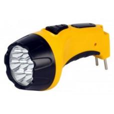 Smartbuy фонарь ручной SBF-86-Y (акк. 4V 0.8 Ah) 7св/д, желтый/пластик, вилка 220V