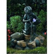 GWXF01185 Green Apple Фонтан садовый Девочка с рыбкой 64см