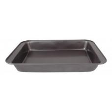 Противень (форма) для выпечки стальн.штамп.(0,4мм) BF-006, 37.5*25.5*5см, антиприг.покр.191305 Mallony