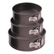 Набор форм для выпечки (3шт) стальн. штамп (0,4мм) SF-002SET, разъемные, d=22/24/26см, 191312 Mallony