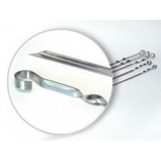 Шампур угловой 410*10 (0,8мм) нержавеющая сталь Бастион-пром