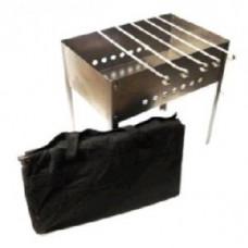 Мангал Стандарт 500*300*500 (сталь 0,7мм) + шампур углов. (6шт) 410*10*0,8мм в сумке Бастион-пром