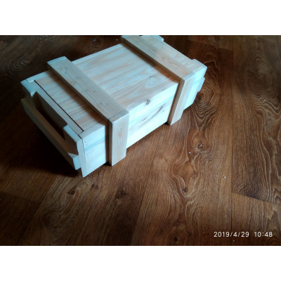 Деревянный ящик для хранения овощей с крышкой большой