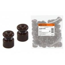 TDM Керамический изолятор для ретро провода «ЭКО» бук (уп.25шт цена за шт.) SQ2802-0006