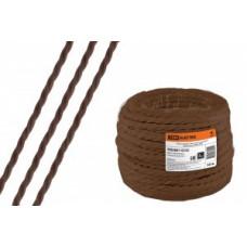 """TDM Ретро провод """"Эко"""" 2х2,5 витой ГОСТ коричневый (50м) (50!) SQ2801-0122"""