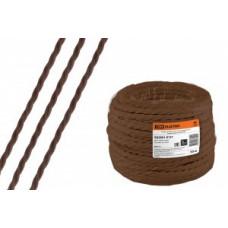 """TDM Ретро провод """"Эко"""" 2х1,5 витой ГОСТ коричневый (50м) (50!) SQ2801-0121"""