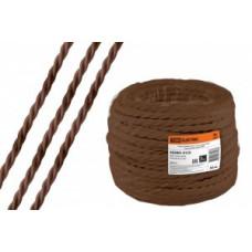 """TDM Ретро провод """"Эко"""" 3х1,5 витой ГОСТ коричневый (50м) (50!) SQ2801-0123"""
