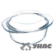 Кастрюля 2,5л стекло с крышкой SATOSHI 825-002 жаропрочная