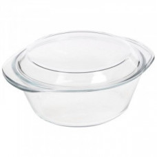 Кастрюля (миска) CRISTALLINO 1л, жаропрочное стекло с крышкой, 3119 (2!!!) Mallony
