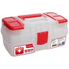 """Аптечка """"Скорая помощь"""" с отсеками в крышке пластик, прозрачная BR3763ПР BranQ"""