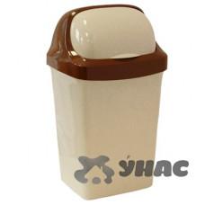 Контейнер для мусора 9л РОЛЛ ТОП беж мрам М2465(14