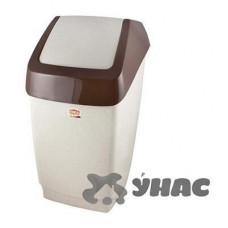 Контейнер для мусора ХАПС 25лМ 2472 Бежевый мрамор