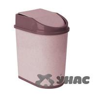 Контейнер для мусора 5л М 2480 Бежевый мрамор