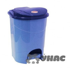 Контейнер для мусора с педалью19л гол.мрам М2892
