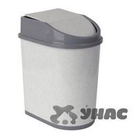 Контейнер для мусора 5лМ 2480 мрамор