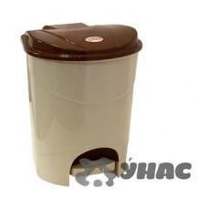 Контейнер для мусора с педалью7л беж.мрам М2890