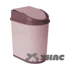 Контейнер для мусора 8лМ 2481 бежевый мрамор