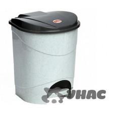 Контейнер для мусора с педалью7л МРАМОР М2890