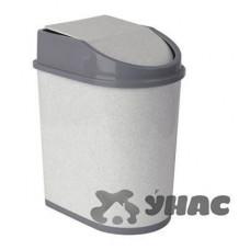 Контейнер для мусора 8лМ 2481 Мрамор