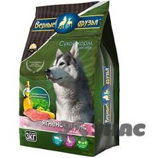 Верные друзья Корм сухой для взрослых собак всех пород 5кг Ягненок и рис