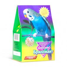 БРИЛЛИАНТ 400гр Корм для мелких попугаев, Специальный состав, Треуг. картон. коробка Штрихкод 0077