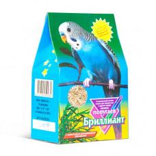 БРИЛЛИАНТ 400гр Корм для мелких попугаев с минерально-витамин. (растит.-минеральн.) добавками, Треуг. картон. коробка Штрихкод 0084