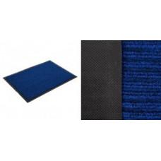 Коврик придверн. влаговпит. Ребристый 40*60см, h ворса=0,5см, синий, п/э, подложка ПВХ 22076 Vortex