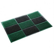 Коврик придверн.(тип Spongy) 40*60см, h ворса=0,5см, черно-зеленый, пористый, полимерн. 22406 Vortex