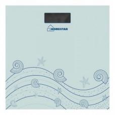 Весы напольные электронные HomeStar HS-6001B (стеклo) 180кг дел. 100гр (CR2032*1шт в компл) 2957