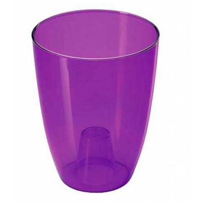 Кашпо Орхидея D160мм фиолетовый прозрачный М3149