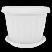 Горшок ТЕРРА (Г8*6,5) 0,2л с подставкой - Белый