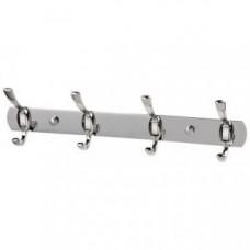 Вешалка для ванной с 4-мя крючками, нержавеющая сталь, SSA-002-4, 310791, Рыжий Кот